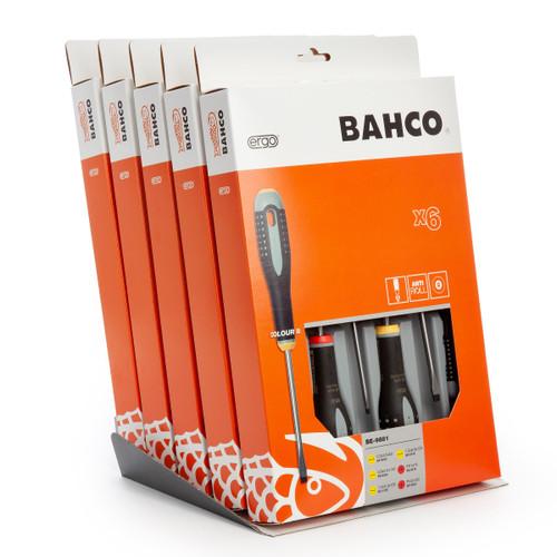 Bahco BE-9881/5DISP ERGO Screwdriver Set - 6 Pieces x 5 TS - 2
