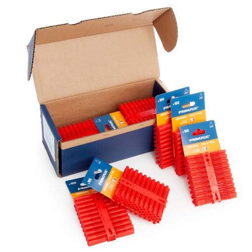 Rawlplug 10 x 100 R-OLD-RED-100-C (67-134) Rawlplugs on a Card - 6mm x 35mm - 2