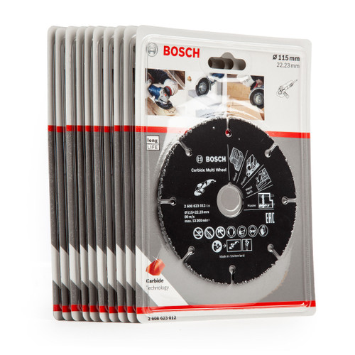 Bosch 2608623012 Carbide Multi Wheel Cutting Discs 115mm (Pack of 10) - 6