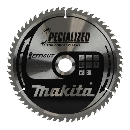 Buy Makita B-67234 Efficut TCT Saw Blade 260mm x 30mm x 60T at Toolstop