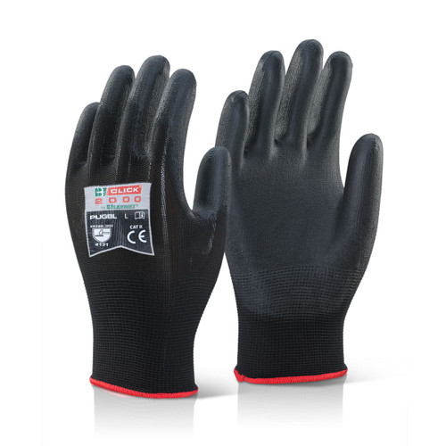 Beeswift BS043BL Black Multi-Purpose PU Coated Gloves (Large) - 1
