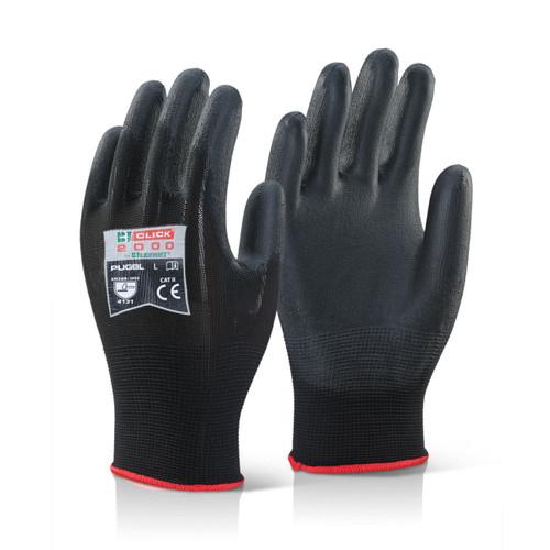 Beeswift BS043BL Black Multi-Purpose PU Coated Gloves (Large) - 1