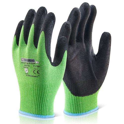 Beeswift BS050L Kutstop Micro Foam Nitrile Glove Green - Large - 1