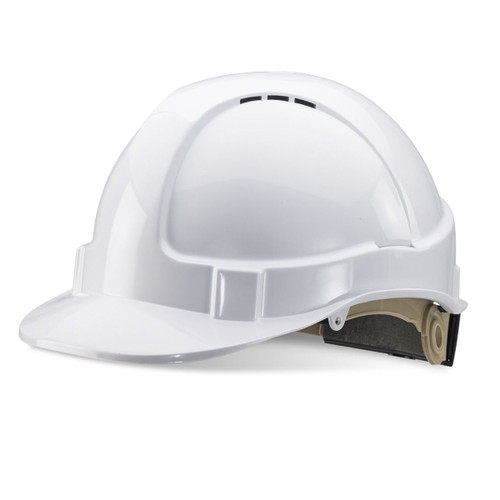 Beeswift BS076W Vented Safety Helmet - White - 1