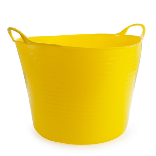 Red Gorilla SP42Y Large Yellow Flexible Tub 38L - 3