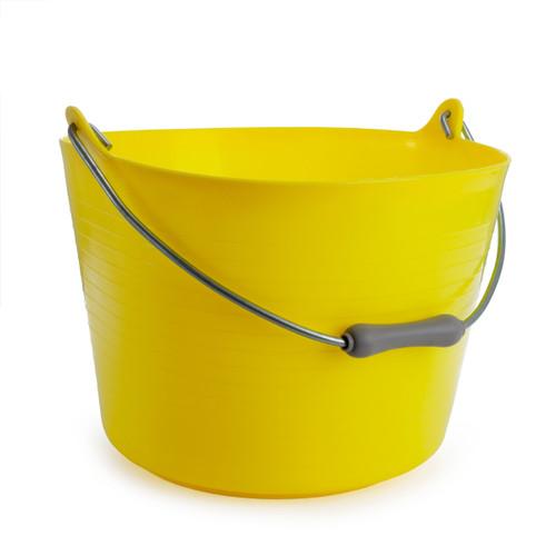 Red Gorilla TT4 Yellow Flexible Bucket With Handle 22L - 3