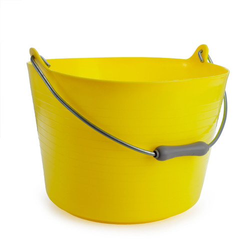 Red Gorilla TT4 Yellow Flexible Bucket With Handle 22L - 3