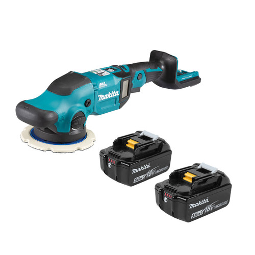 Makita DPO600RTE 18V LXT Brushless Random Orbit Polisher (2 x 5.0Ah Batteries) - 3