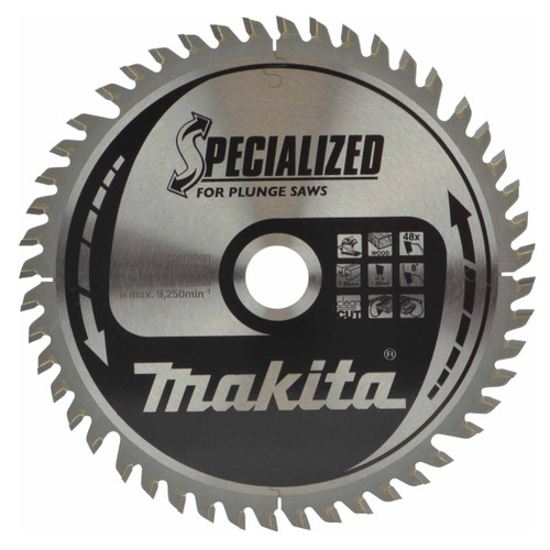 Buy Makita B-56708 TCT Specialized Circular Saw Blade for Plunge Saws 165mm x 20mm x 48T at Toolstop
