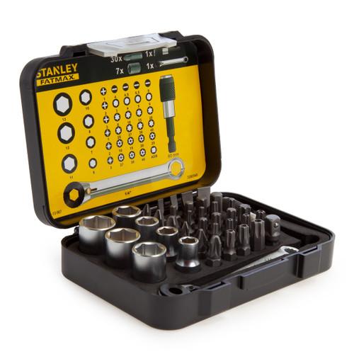Stanley 1-13-907 Fatmax 1/4in Drive Socket & Bit Set (39 Piece) - 2