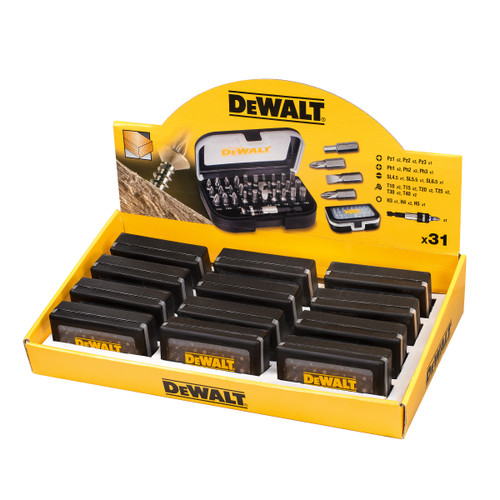 Dewalt DT7944TS-QZ 31 Piece Merchandiser Torsion Screwdriver Bit Set In Display Box Of 12 - 1