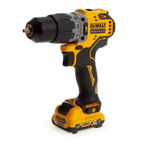 Dewalt DCD706D2 12V XR Brushless Sub-Compact Hammer Drill Driver (2 x 2.0Ah Batteries) - 1