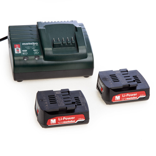 Metabo 685300000 Basic 12V Charger Set with 2 x 2.0Ah Li-Power Batteries - 4