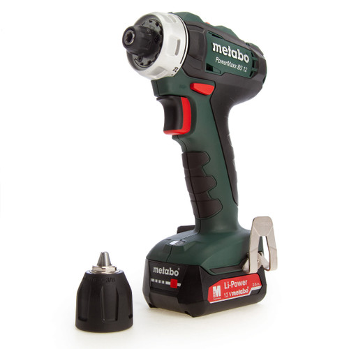 Metabo 601036500 PowerMaxx 12V BS12 Drill Driver (2 x 2.0Ah Batteries) - 4