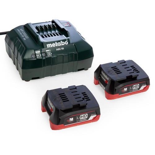 Metabo 685301000 Basic 12V Charger Set with 2 x 4.0Ah LiHD Batteries