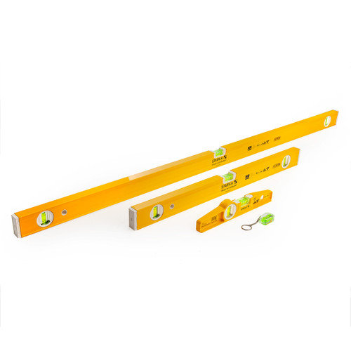 Stabila 17530 Level Set 120cm / 60cm / 25cm and Keyring with Case - 6
