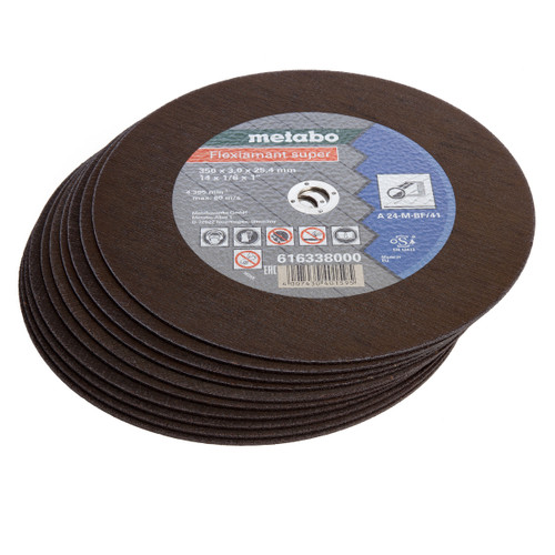 Metabo 616338000 Flexiamant Super Steel Cutting Disc 350 x 3.0 x 25.4mm (Pack of 10) - 1