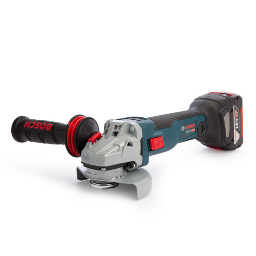 Bosch GWS 18V-10 SC Professional Brushless Angle Grinder 125mm (2 x 5.0Ah Batteries) with GCY 30-4 Bluetooth Module - 3