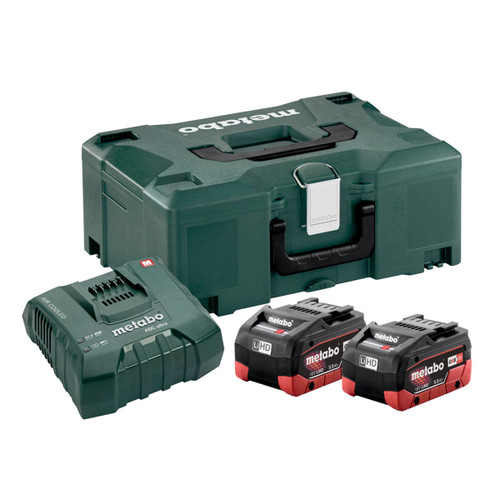 Buy Metabo 685077000 Basic Set - 2 x 5.5Ah LiHD Batteries, ASC Ultra Charger & Metaloc Case at Toolstop