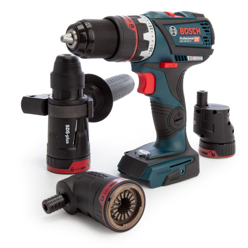 Bosch GSR 18V-60 FC Professional Heavy Duty Drill Driver FlexiClick with 4 Chucks (Body Only) in L-Boxx - 5