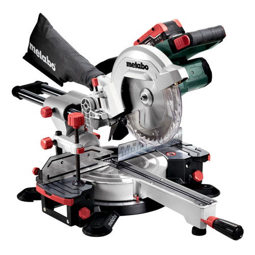 Metabo 619001660 KGS 18 LTX 216 Mitre Saw 216mm (2 x 5.5Ah Batteries) - 2