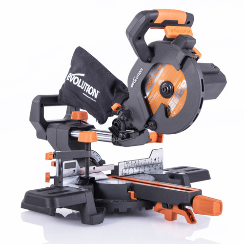 Evolution R185 SMS+ TCT Multi-Material Cutting Sliding Mitre Saw 185mm 240V - 13