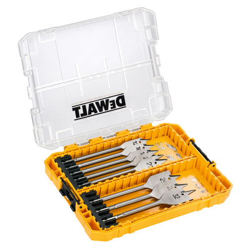 Dewalt DT70750 Flat Drill Bit Set for Wood 12mm - 32mm in Connectable Case (8 Piece) - 3