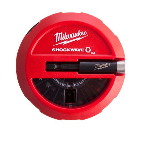 Buy Milwaukee 4932430904 Screwdriver Bit Set Puck Shockwave (15 Piece) at Toolstop