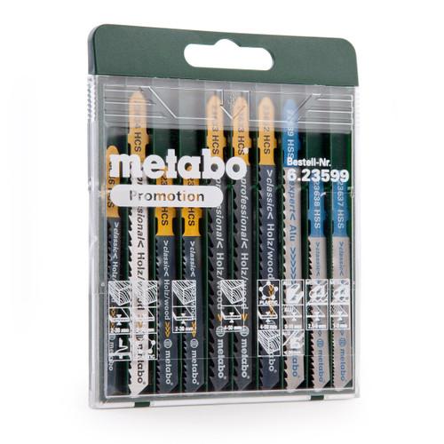 Buy Metabo 6.23599 Assorted Jigsaw Blade Set 10 Piece at Toolstop