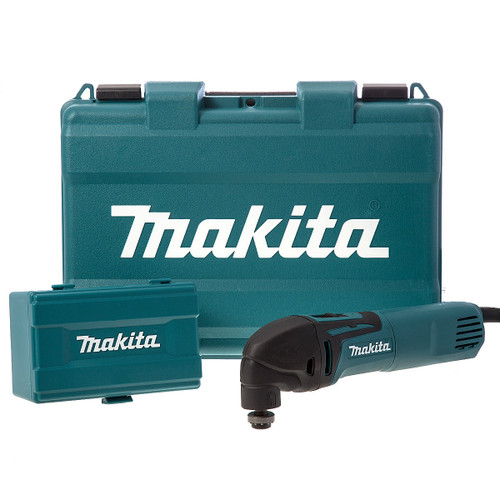 Buy Makita TM3000CX4 Multi-Cutter 320W Oscillating with 56 Accessories 240V for GBP106.67 at Toolstop