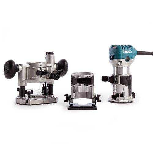 Buy Makita RT0700CX2 Router / Laminate Trimmer with Trimmer, Tilt and Plunge Bases 240V at Toolstop