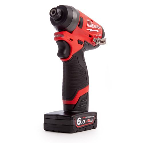 "Buy Milwaukee M12FID-602X 4933464188 M12 Fuel Sub Compact Impact Driver 1/4"" Hex (2 x 6.0Ah Batteries) at Toolstop"