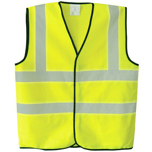 Buy Toolstop TP500 Hi-Vis Polyester Waistcoat Vest - Yellow at Toolstop