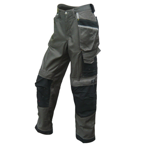 Buy Snickers 3212 Craftsmen Work Trousers, DuraTwill Grey/Black at Toolstop