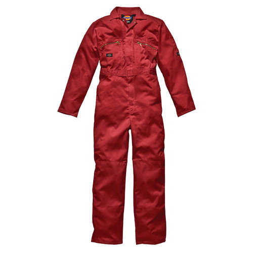 Buy Dickies WD4839 Front Zip Redhawk Coverall - Red at Toolstop