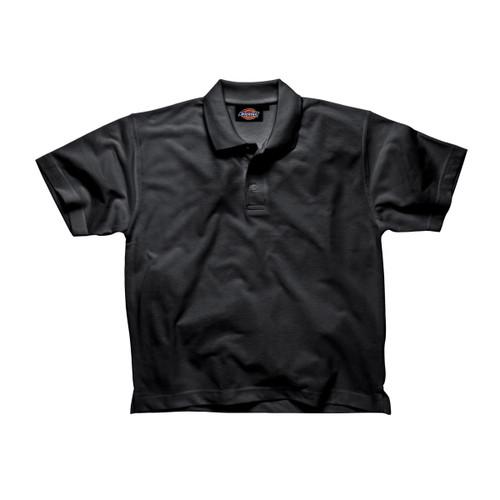 Buy Dickies SH21220 Short Sleeve Polo Shirt (Black) at Toolstop