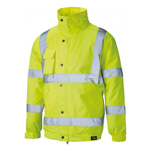 Buy Dickies SA22050 Hi-Vis Bomber Jacket Yellow at Toolstop