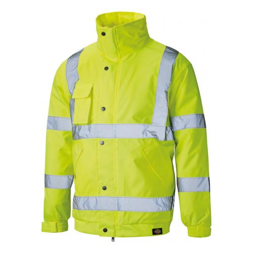 Buy Dickies SA22050 Hi-Vis Bomber Jacket Yellow at Toolstop