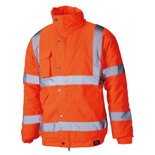 Buy Dickies SA22050 Hi-Vis Bomber Jacket Orange at Toolstop