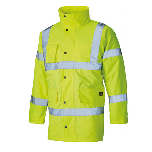 Buy Dickies SA22045 Hi Vis Motorway Safety Jacket Yellow at Toolstop