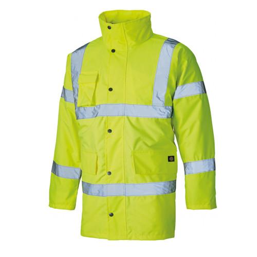 Buy Dickies SA22045 Hi Vis Motorway Safety Jacket Yellow at Toolstop