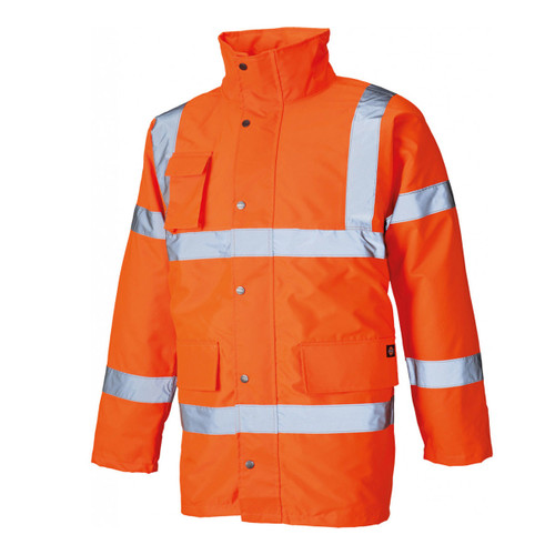 Buy Dickies SA22045 Hi Vis Motorway Safety Jacket Orange at Toolstop