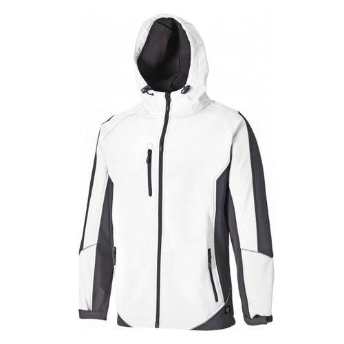 Buy Dickies JW7010 Two Tone Soft Shell Jacket (White/Grey) at Toolstop