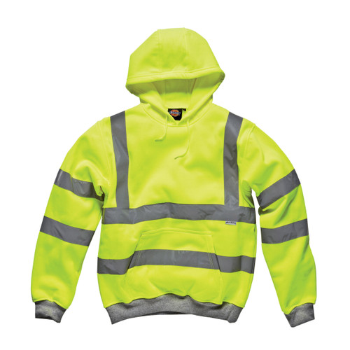 Buy Dickies SA22090 Hi-Vis Safety Hooded Sweatshirt (Yellow) at Toolstop