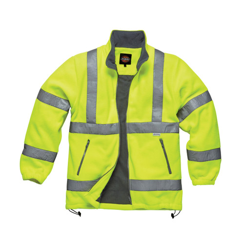 Buy Dickies SA22032 Hi-Vis Lined Fleece Jacket (Yellow) at Toolstop