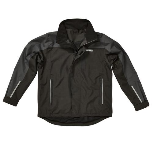 Buy Dewalt Storm Lightweight Waterproof Jacket in Black / Grey at Toolstop