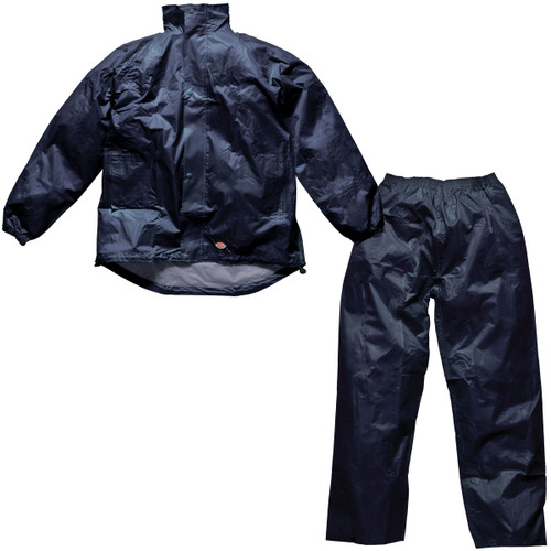 Buy Dickies WP10050 Vermont Jacket and Trousers Water Resistant Suit (Navy) at Toolstop
