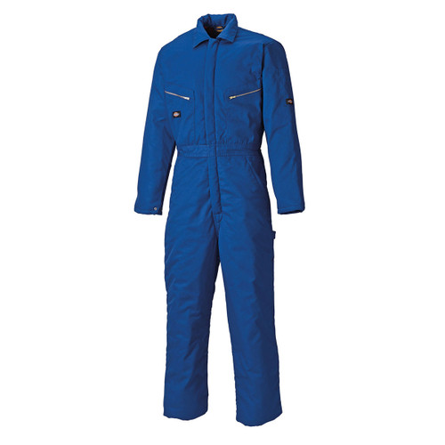 Buy Dickies WD2360R Quilted Lined Coverall with Pockets (Royal Blue) at Toolstop