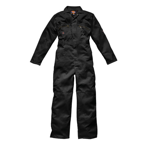 Buy Dickies WD4839 Front Zip Redhawk Coverall - Black at Toolstop
