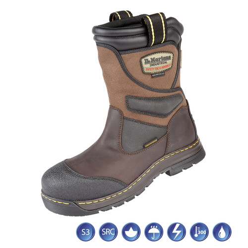 Buy Dr Martens 6923 Turbine ST Gaucho Waterproof Metal Free Safety Rigger Boot (Heat & Slip Resistant) in Brown at Toolstop